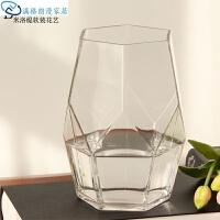 花瓶 玻璃摆件玻璃花鲜花玻璃玻璃工艺简约几何透明花瓶新款手工鱼缸装饰圆球家居