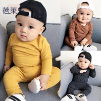 婴儿套装秋季男女宝宝1岁3个月春秋款秋装打底衫小童内衣服婴幼儿