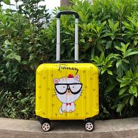 18寸可爱登机箱女16小行李箱万向轮拉杆箱小型卡通儿童旅行密码箱