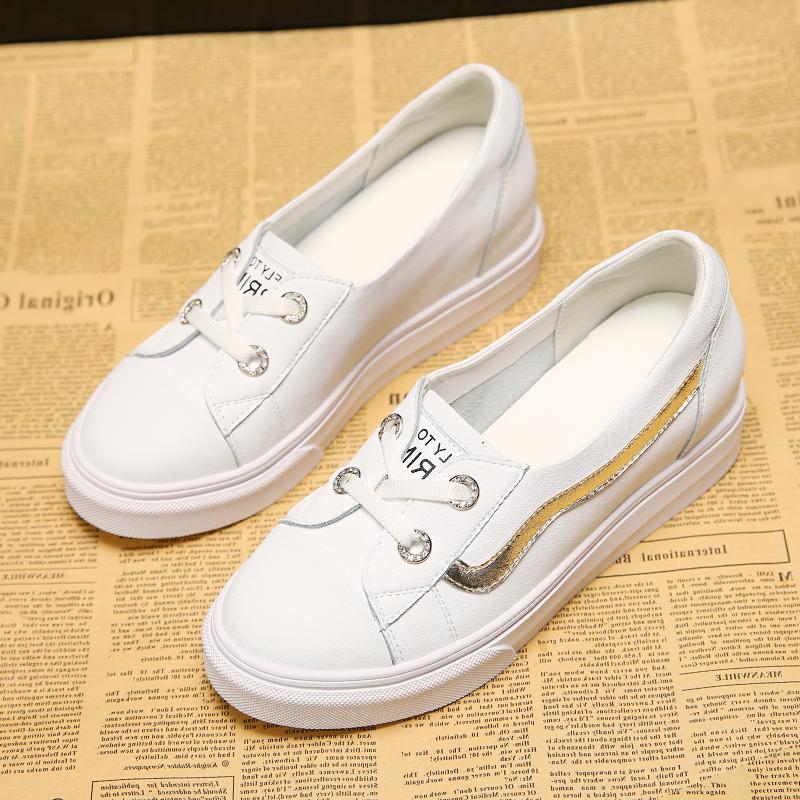 小白鞋女内增高2018夏季新款韩版百搭厚底春季松糕底白色板鞋