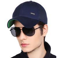 简约纯色女士遮阳帽鸭舌帽网眼透气速干帽男士韩版潮棒球帽太阳帽子
