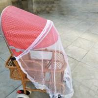 婴儿车遮阳伞推车遮阳棚宝宝儿童推车雨罩伞车遮阳罩通用 带蚊帐