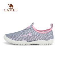camel骆驼户外休闲鞋 情侣款套脚时尚网布透气休闲鞋男女
