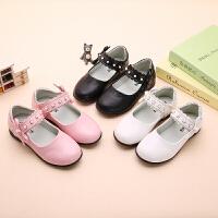 女童公主鞋春季新款韩版蝴蝶结皮鞋儿童圆头单鞋中大童学生演出鞋