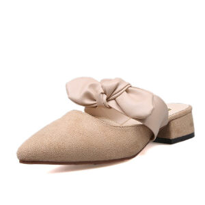 WARORWAR 2019新品YN16-F027夏季欧美低跟蝴蝶结女鞋潮流时尚潮鞋百搭潮牌凉鞋女