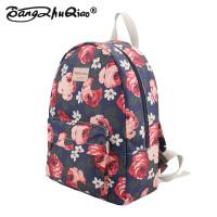小清新韩版碎花帆布森女双肩包背包书包中学生旅行包女包包