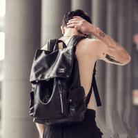 欧洲站牛皮书包男士双肩包背包男真皮质男包时尚潮流新款电脑包