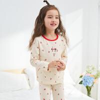迪士尼女童上衣长裤家居服两件套2021春秋款宝宝女童米妮内衣套装