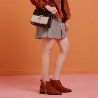 【2件2.5折叠券约:35.2,12日0点】美特斯邦威半身裙女气质秋装新款ins时尚裙子学生A型格纹短裙