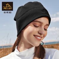 户外秋冬抓绒帽男女围巾保暖透气滑雪骑行运动防风围脖帽子