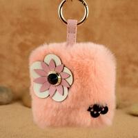 车钥匙挂件女士毛绒韩国创意简约小清新个性时尚包包饰品钥匙扣