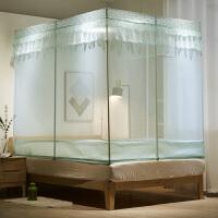 蚊帐三开门拉链方顶1.5米1.8m1.2床蒙古包2单双人家用蚊帐