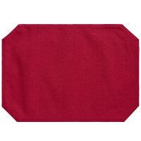 日式家用餐垫儿童桌垫布艺杯垫美式欧式学生餐垫布花瓶垫托盘布垫 竹节款 红色