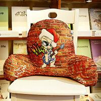创意办公室椅子腰靠抱枕汽车大靠背个性时尚座椅孕妇护腰靠枕靠垫