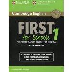 【预订】Cambridge English First for Schools 1 for Revised Exam
