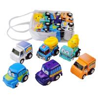 迷你回力惯性车男孩宝宝61儿童节玩具车小汽车套装每袋6辆模型