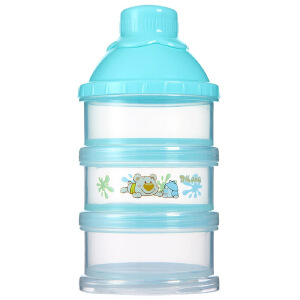 日康初生型三层奶粉盒 婴儿新生儿便携奶粉存储盒 宝宝奶粉格RK3615