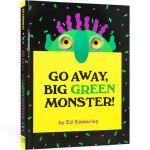 英文原版 Go Away, Big Green Monster走开大绿怪廖彩杏吴敏兰张湘君 2-6岁儿童益智面具洞洞书