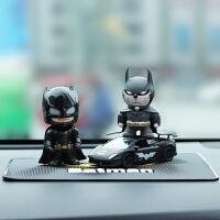 漫威蝙蝠侠合金甲壳虫公仔汽车摆件车载车内装饰品创意人偶摆件