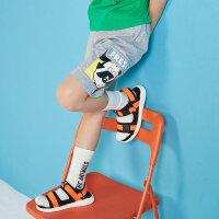 【1件2.5折到手价:33.8】moomoo童装儿童裤子新款夏季迪士尼卡通米奇纯棉中大男童短裤