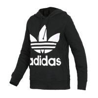 Adidas阿迪达斯 女装 三叶草运动休闲连帽卫衣套头衫 CE2408