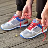 361男鞋复古时尚舒适减震防滑耐磨中帮撞色运动跑步鞋671542233