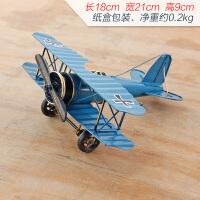 美式装饰摆件铁艺复古二战飞机模型战斗机玩具客厅酒柜装饰品摆设