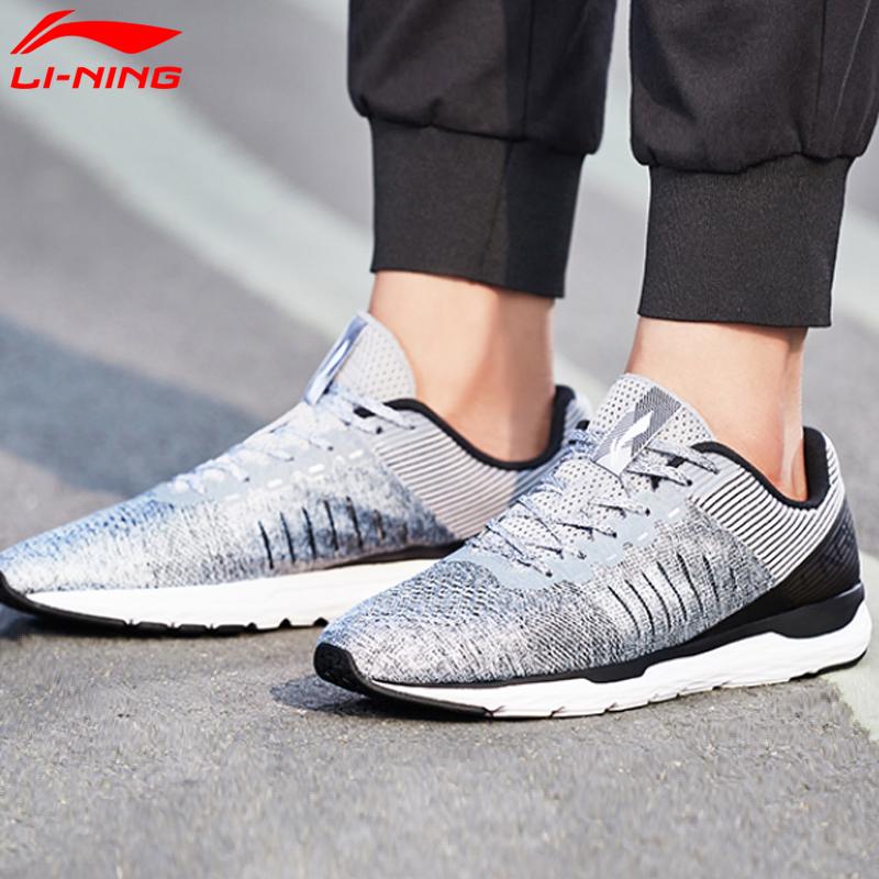 李宁跑步鞋男鞋2018新款轻影轻质轻便耐磨支撑透气运动鞋ARBN007