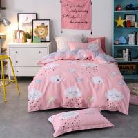 ???大学生宿舍单人床纯棉三件套床单被套床上用品上下铺寝室全棉套件