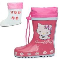 儿童雨鞋女童时尚卡通防滑水鞋宝宝学生雨靴小孩保暖加绒亲子款