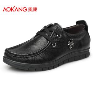 奥康男鞋秋季新品男士皮鞋男中年真皮男鞋商务休闲鞋
