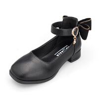 女童皮鞋2018夏季新款韩版时尚高跟公主鞋软底潮中大童小学生单鞋