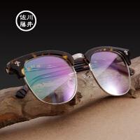 【新款】佐川藤井眼镜框复古圆框 男女半框潮款 近视镜眼睛架81211