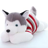 毛绒玩具趴趴狗抱枕布娃娃玩偶儿童七夕礼物送女生 哈士奇公仔 毛衣哈士奇