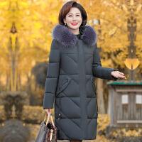中老年棉衣女中长款妈妈羽绒40岁50中年棉袄冬装外套