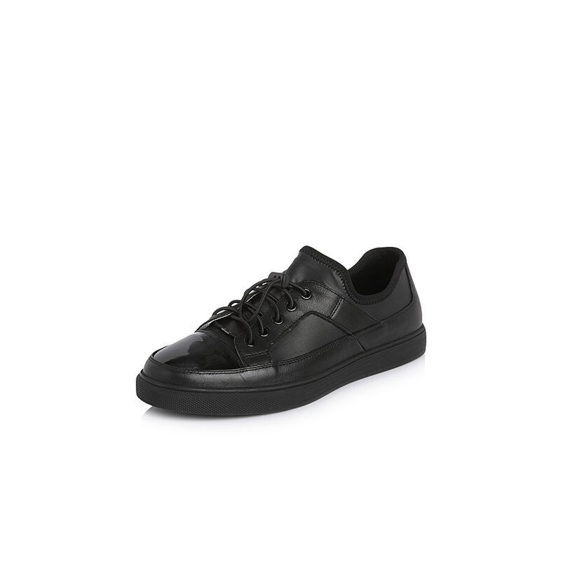 Belle/百丽2018春季新品专柜同款纺织品/牛皮革男休闲鞋5RC01AM8