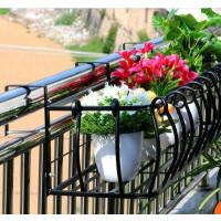 欧式阳台栏杆花架壁挂悬挂花架铁艺护栏多层挂式花架多肉外挂花架
