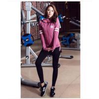 健身房跑步运动套装女秋冬晨跑速干户外衣服两件套潮