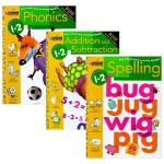 正版 Phonics/Spelling/Addition and Subtraction 美国小学一二年级英语数学练习