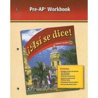 【预订】Asi Se Dice!, Glencoe Spanish 2, Pre-AP Workbook