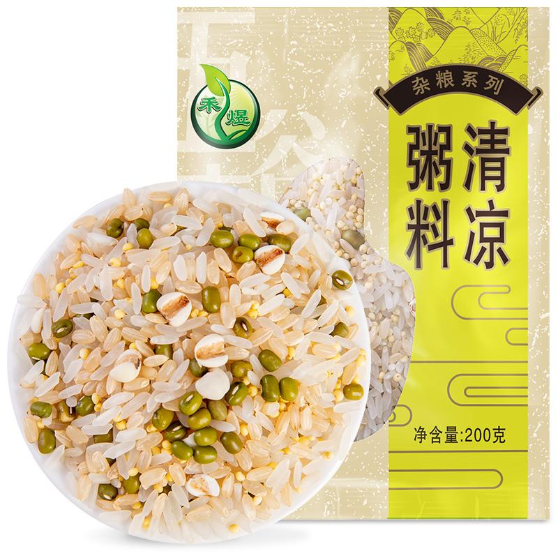 禾煜 清凉粥料 400g/袋 五谷杂粮混合 包含 绿豆、糙米、 薏米、大黄米 香米、大西米粗粮干货选禾煜,全店满79减5,满149减10~