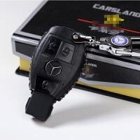 奔驰钥匙包套E260L GLK GLA CLA级C级CLS级R级钥匙扣改装男女