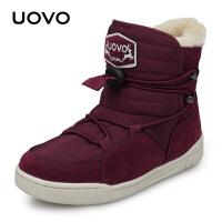 【1件3折价:128元】UOVO2020冬季新款儿童雪地靴男童加绒靴子儿童保暖棉靴中小童雪地靴 乌拉尔