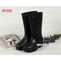 加厚泡沫棉雨鞋 男女款中高筒劳保雨靴 防水鞋工作雨鞋胶鞋