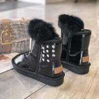 雪地靴女2018新款你鞋子冬季韩版百搭加绒中筒靴加厚保暖防滑棉鞋