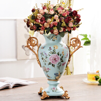 复古欧式陶瓷花瓶摆件客厅插花家居奢华装饰品创意大花瓶花插摆设