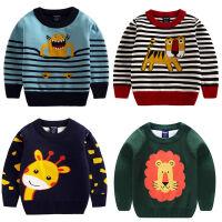 女童毛衣2018中小童双层卡通套头男童毛衣儿童毛衣保暖上衣