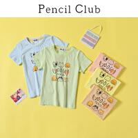 【2件3折:26.7】铅笔俱乐部童装2020夏装新款男童圆领T恤中大童全棉短袖儿童上衣