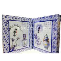 中国风青花瓷盒装相册/影集 粘贴式影集 粘胶40张80面