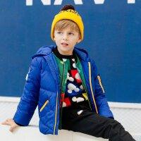 美特斯邦威旗下moomoo男童短款连帽羽绒服冬季新款中大童羽绒服